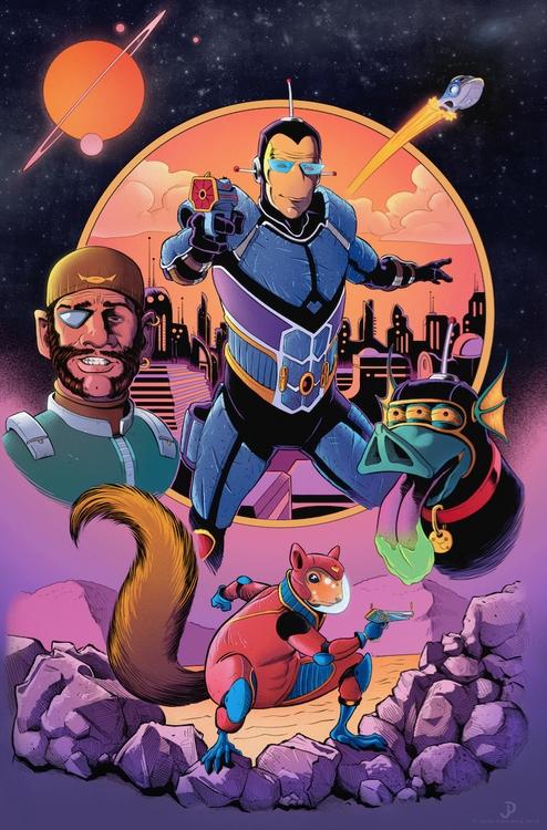 Spaceman Bloater poster. Digita - jasonpiperberg   ello