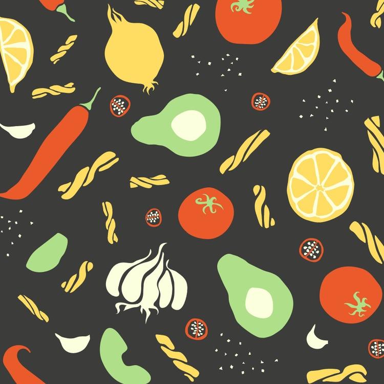 Recipe pattern (work progress - illustration - josephinegraucob | ello