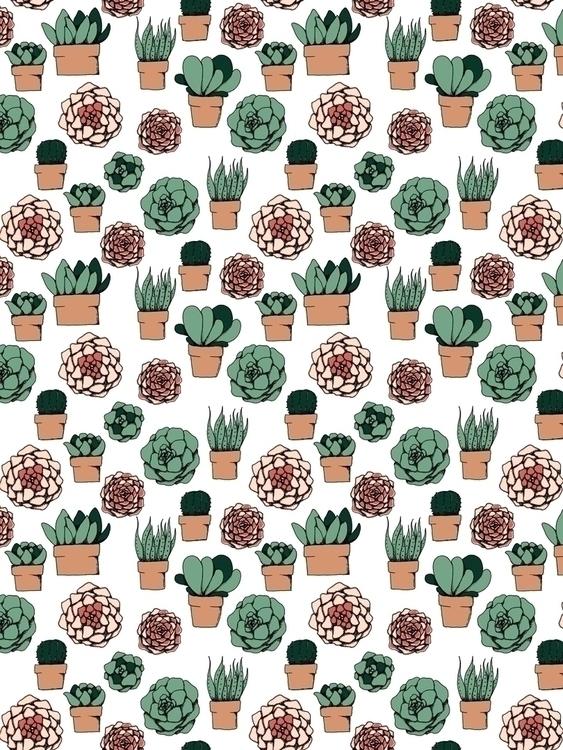 limited color palette succulent - svaeth | ello