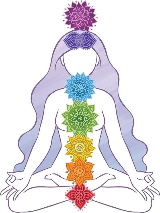 chakras, om, yoga, zen, digitalart - xlrosa | ello