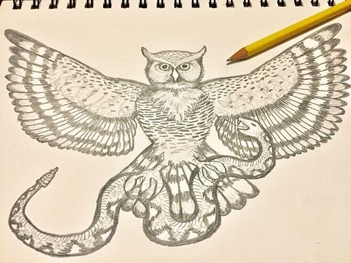 Wisdom Conquers Fear - drawing, pencil - coloradocatalyst | ello