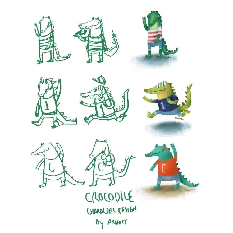 Crocodile Character Design arch - archies | ello