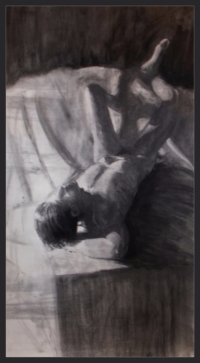 Martin Snoozing Charcoal drawin - artofsedas | ello