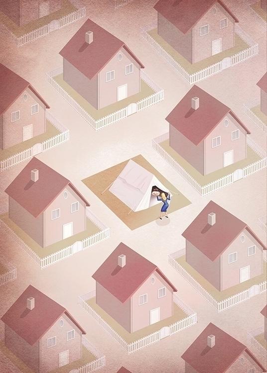 stranger tend - home, house, woman - marcomelgrati | ello