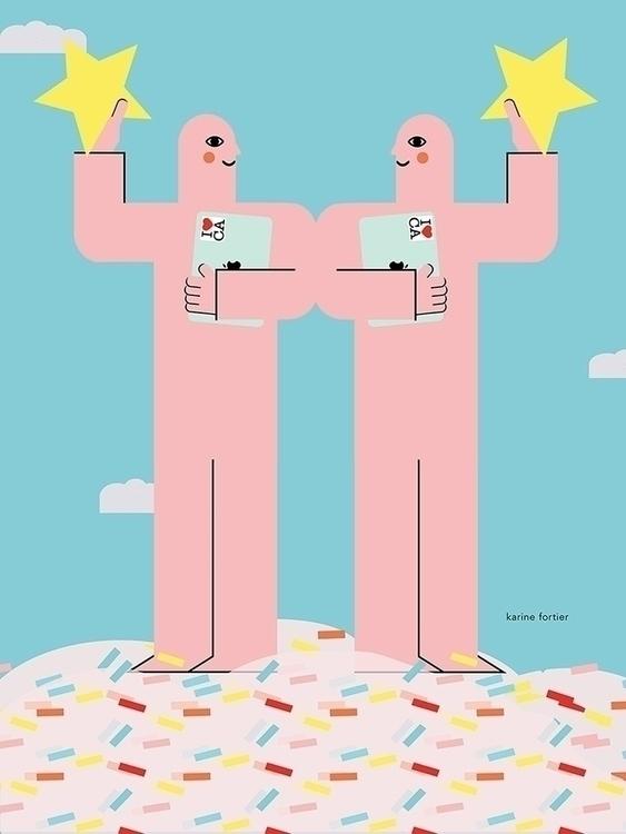 'Rising Stars' Illustration Com - helloppomme   ello