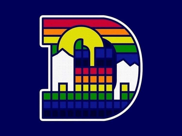 Denver inspired Nuggets logo - art - atomicchild | ello