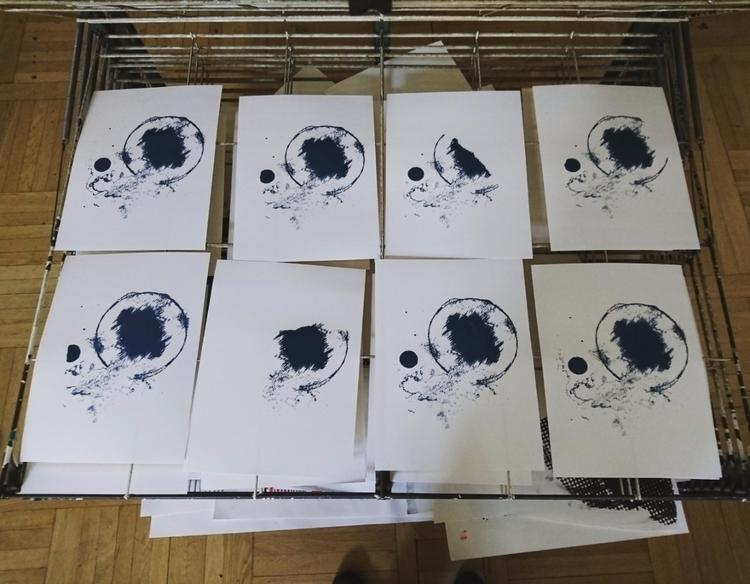 tryouts silkscreen print - siebdruck - ilkhan | ello