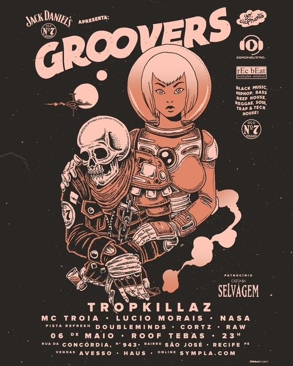 ack Groovers 2017 - art, poster - caramuru | ello