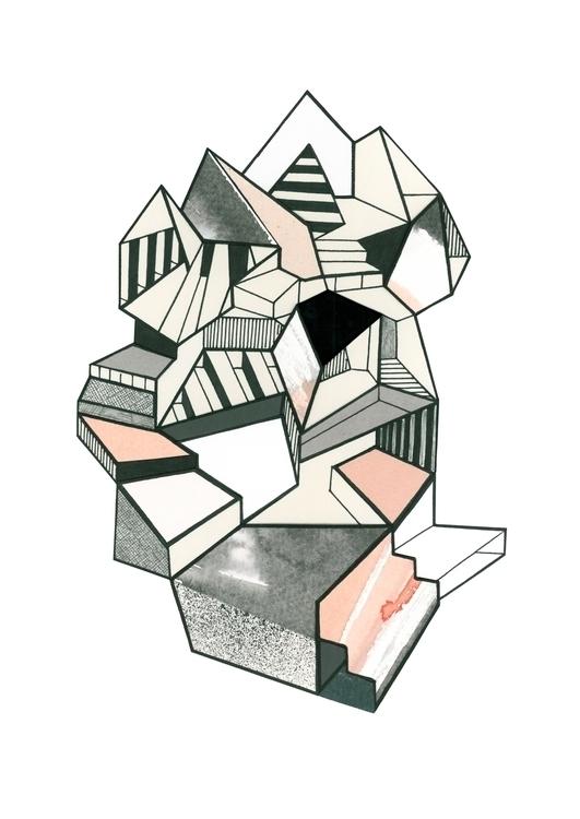 frozen, architecture, A3, artprint - c_a_m_b | ello