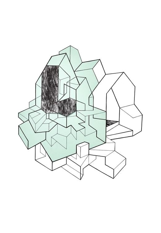 suburb, collage, paperart, architecture - c_a_m_b | ello