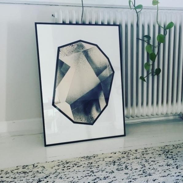 Folding Texture_9 Art print - c_a_m_b | ello