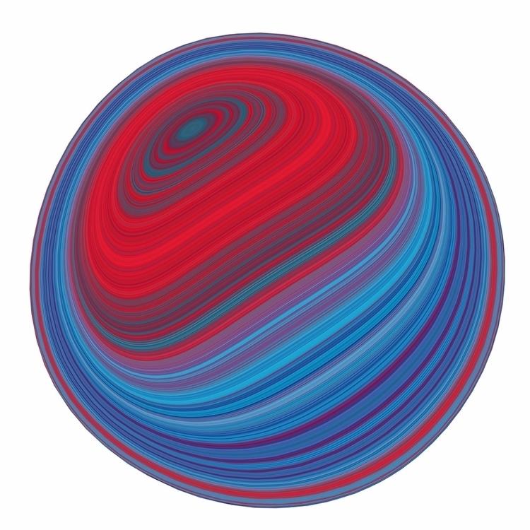 Red Warp. Playing Fresnel nodes - chriskeegan   ello