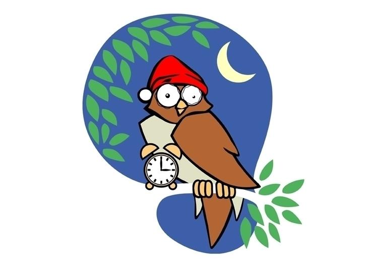 Night Owl - nightowl, art, illustration - stevevdh | ello