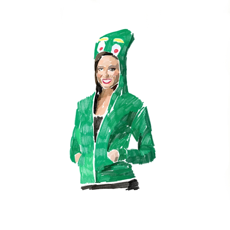 Woman wears gumby costume - carolynfigel | ello