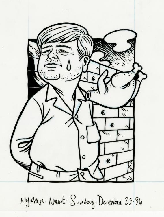 Newt Gingrich illo NYPress, 12 - dannyhellman | ello