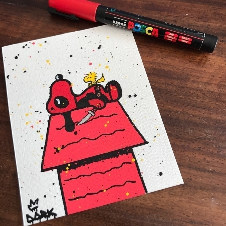 Snoop' Deadpool Illustration ca - darksnooopy | ello