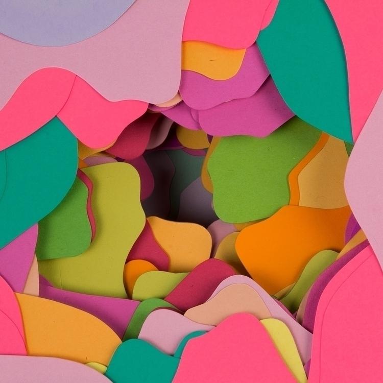 Excavation paper - paperart, color - hampusha | ello