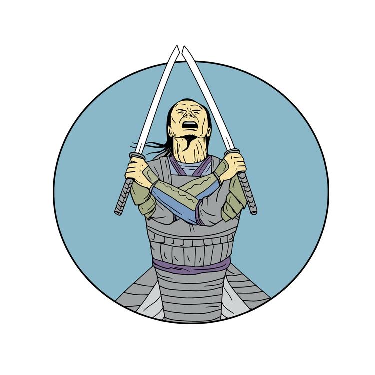 Circle - Samurai, Warrior, Swords - patrimonio | ello