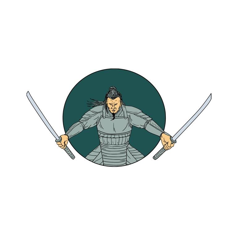 Wielding Oval - Samurai, Warrior - patrimonio | ello