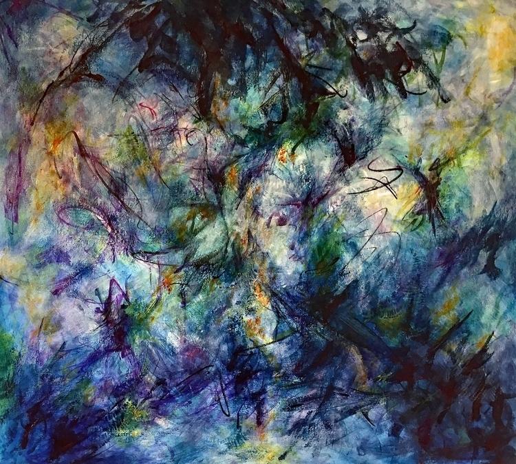 Acrylic canvas 38 42 - art, painting - geralyninokuchi | ello