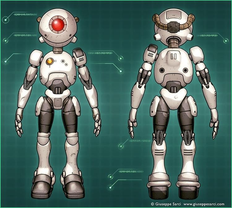 Robot Oculus ( 3d cel-shading t - giuseppe3d | ello
