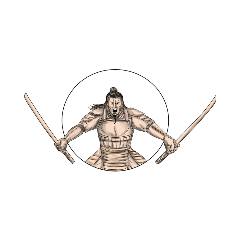 Wielding - Samurai, Warrior, Swords - patrimonio | ello