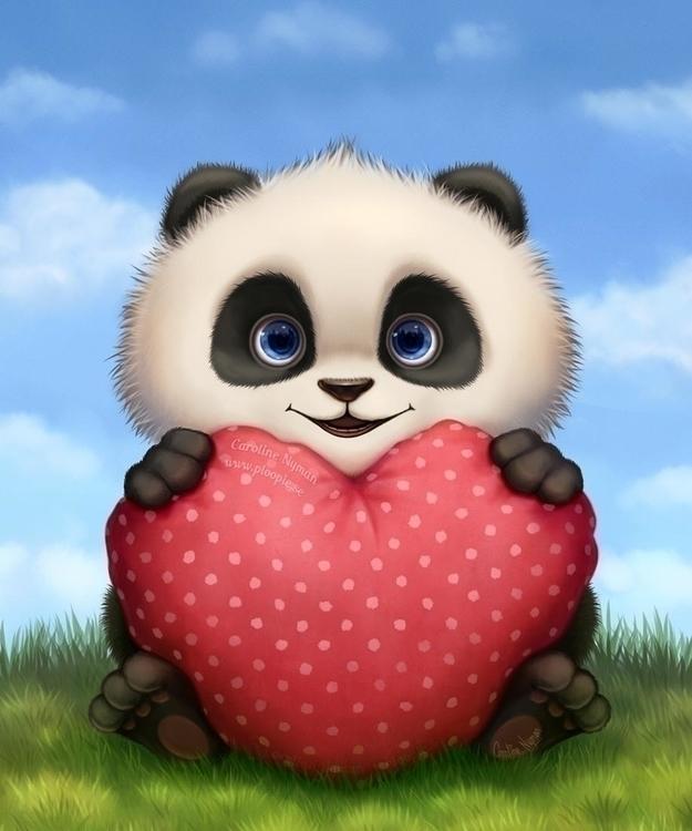 Baby Valentine Panda  - ploopie | ello