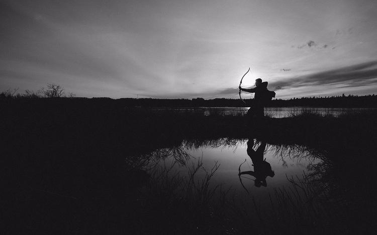 Mon frère avec son arc.  - landscape - jordanbelanger | ello