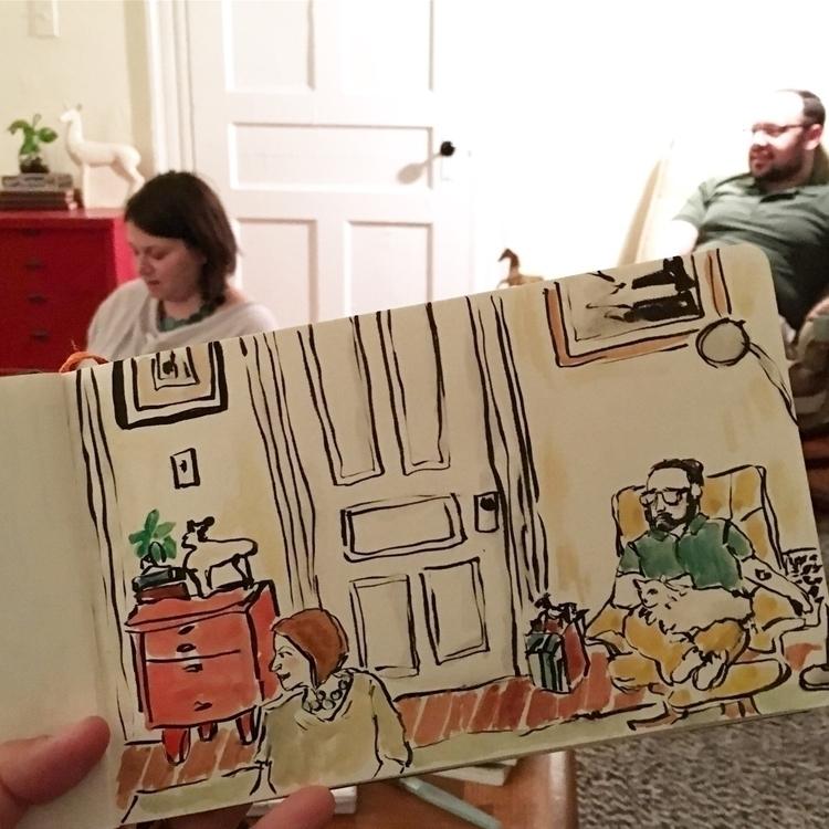 Lounging Lerners  - illustration - chenreichert | ello