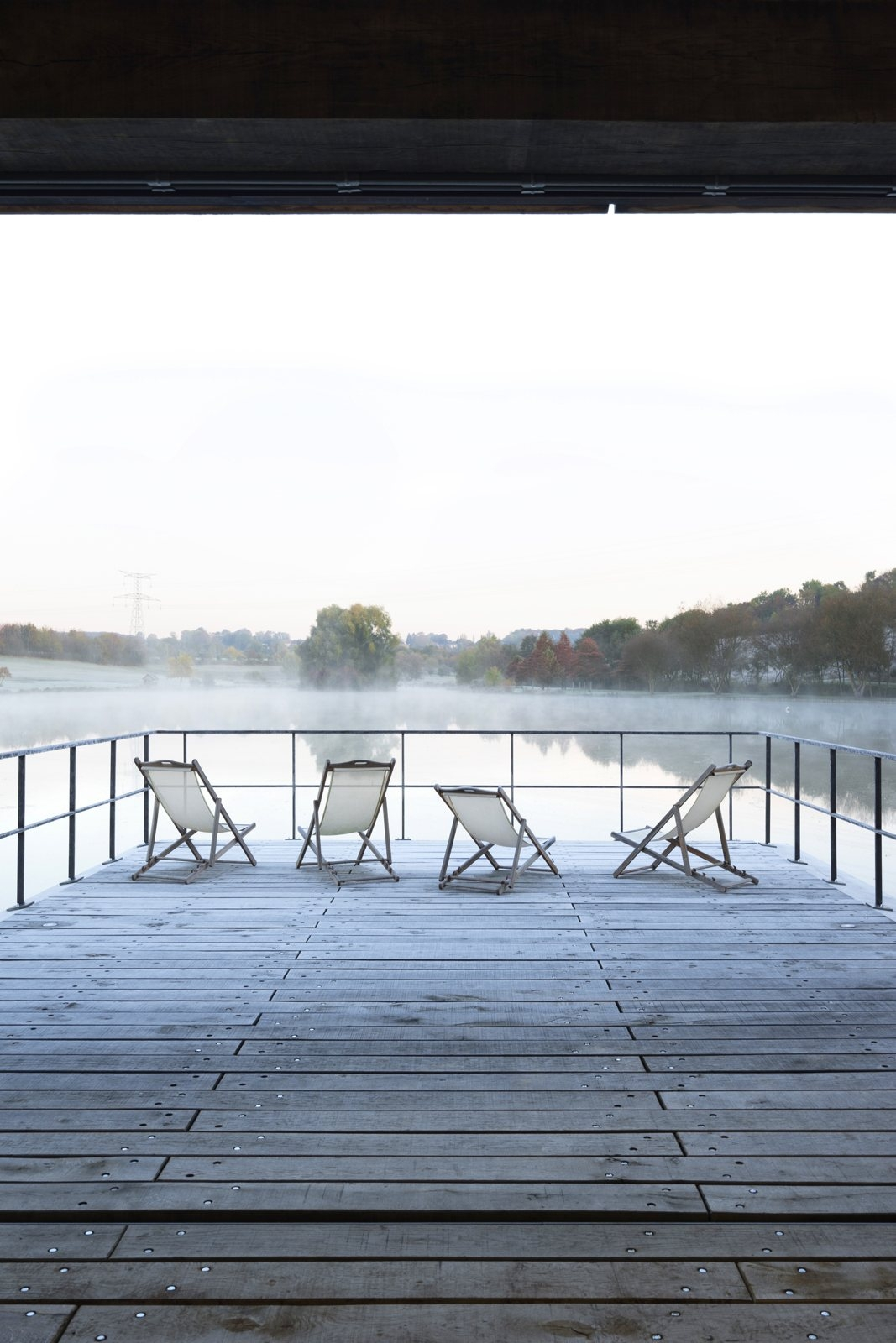 Wooden deck lake. Conference ro - upinteriors   ello