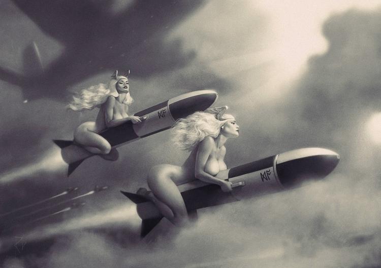fantasy, rockets, art - ukimalefu | ello
