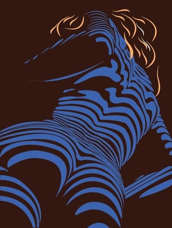 stripes, illustration, sexy, erotic - ukimalefu | ello