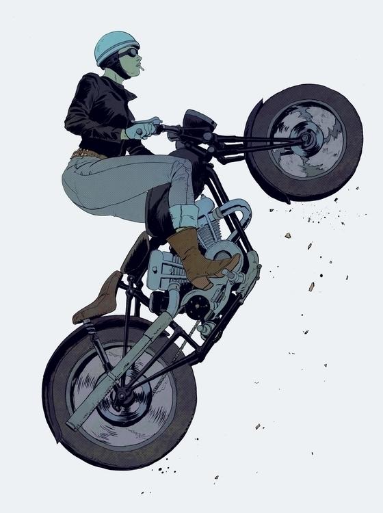 biker doodling - robertsammelin | ello