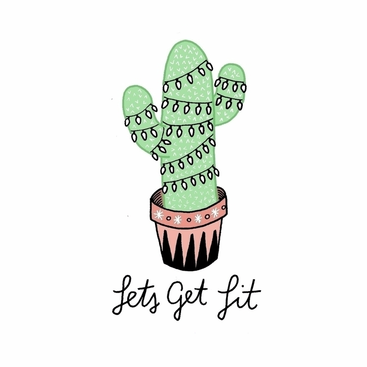 Merry Cactimas - cactus, illustration - liztim | ello
