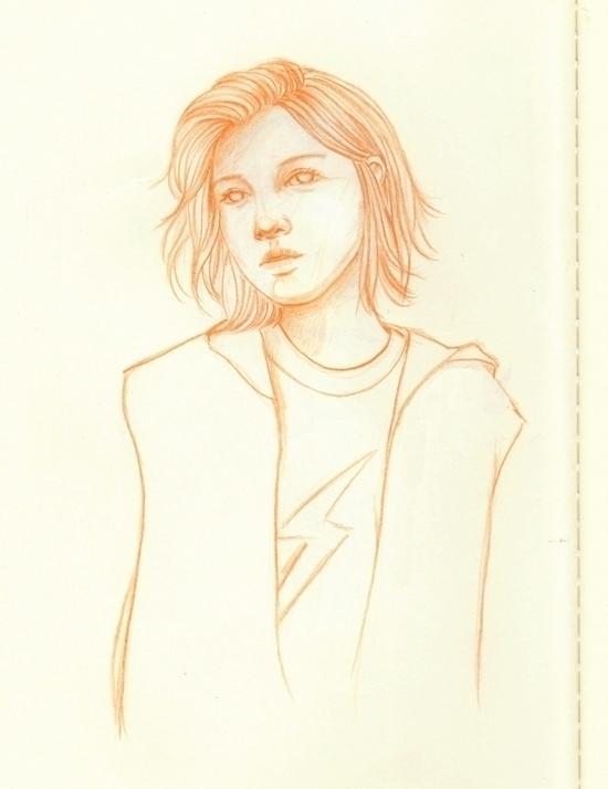 Orange - doodle, orange, sketch - j0eyg1rl | ello