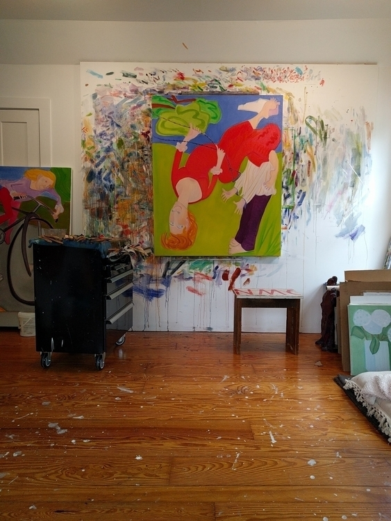 studio, onthewall, art, wetpaint - markbarry | ello