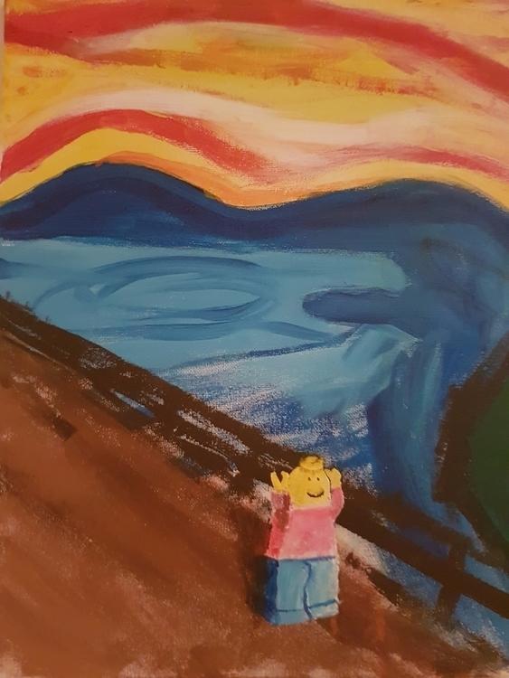 Legoman Scream, painting scream - pan100 | ello