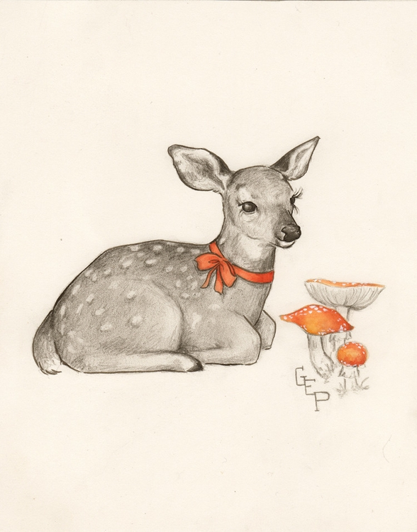 DEER MUSHROOMS Part fun working - gretchenellenpowers | ello