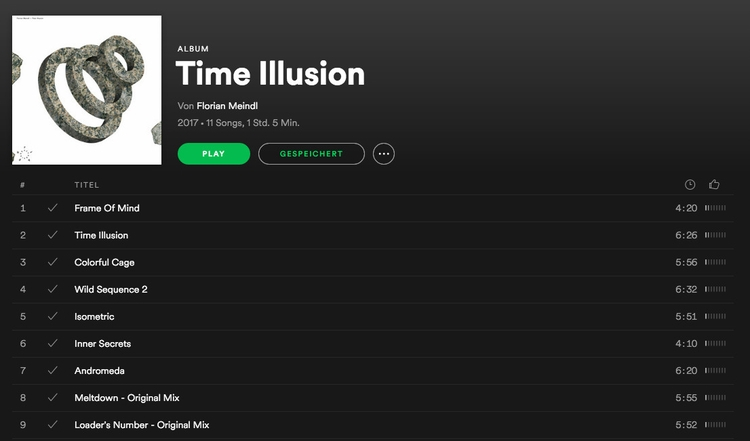 album Time Illusion Spotify - florianmeindl | ello