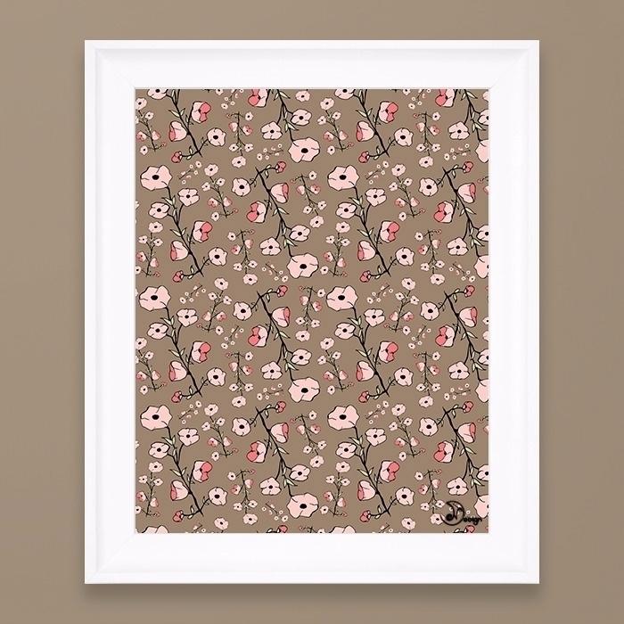 Stylized Sakura - pattern, texture - designdn | ello