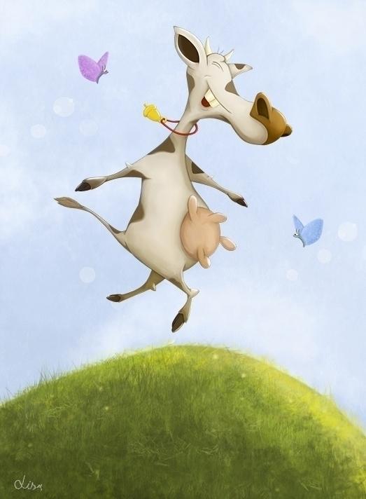 Funny dancing cow - liudmilapantelejenkova   ello