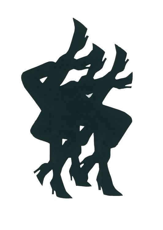 collage, figure, minimal, silhouette - frances-eve | ello