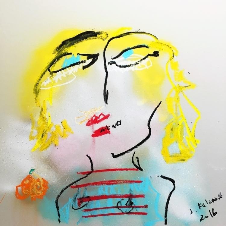 Woman Orange - art - jkalamarz   ello