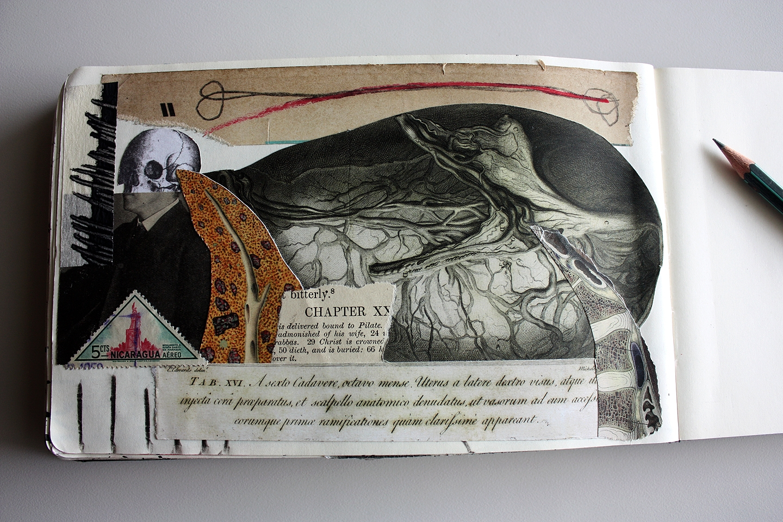 Collage,drawing Moleskine Alvar - sanchezisdead | ello
