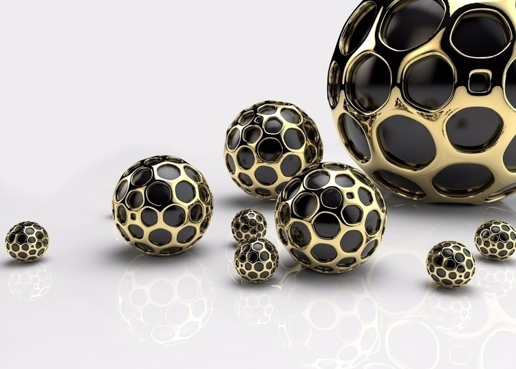 Golden Balls......#3dart - c4d, - mindwax | ello
