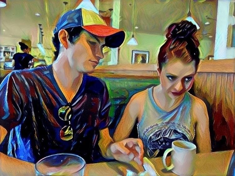 remind - diner, coloredpencil, digitalart - ktpitney | ello