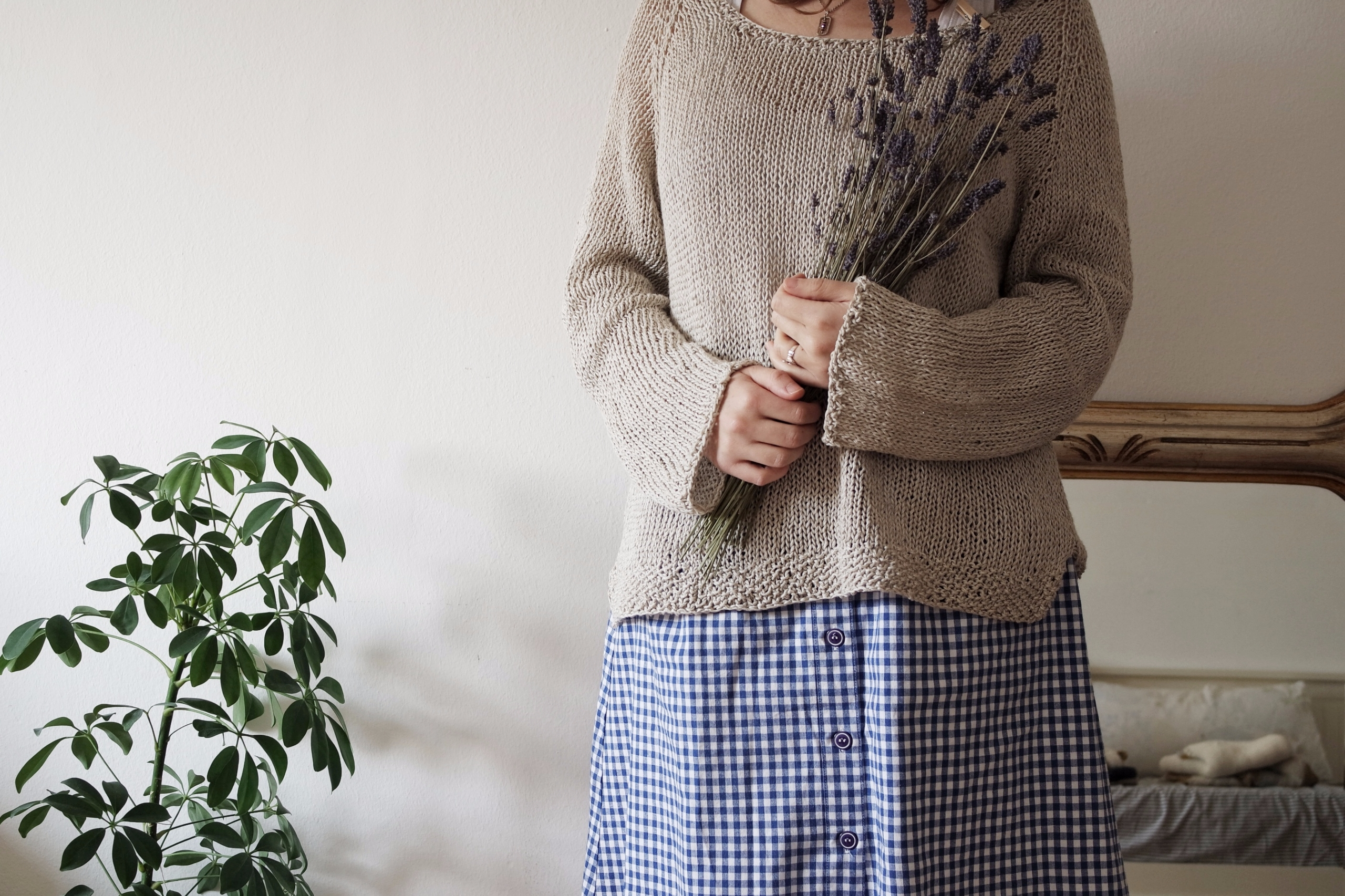 Cotton linen sweater. Design ha - unpeusauvage | ello