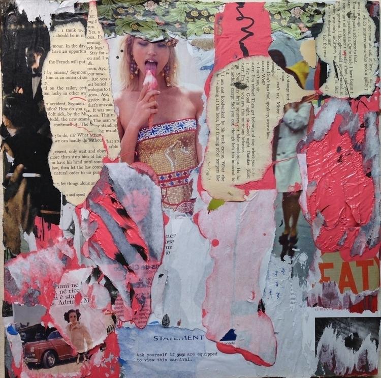 Drift - art, collage, texture, color - jkalamarz | ello