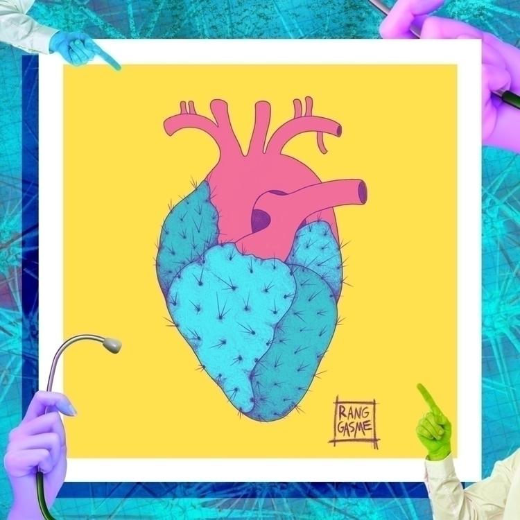 Cactus Heart - HeartisaJourney, drawing - ranggasme | ello