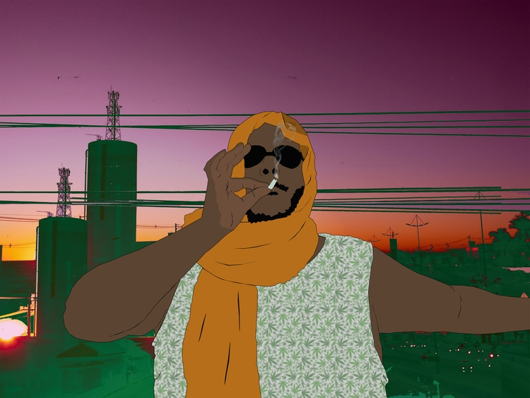 Art Weed Arabian Dude Backgroun - blueanath   ello